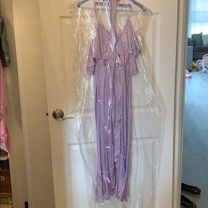 Bardot Dresses - Bardot Bea Wrap dress in Lilac